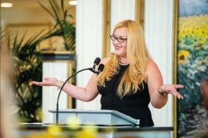 """Damaris (Dammy) Sanchez, founder of I AM the Group Foundation, received the Tampa Bay Charity Coalition """"Difference Maker Award"""" in October 2020."""
