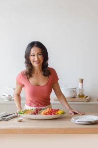 """Mareya Ibrahim is """"The Fit Foodie"""" - a natural products industry expert, chef, holistic nutrition coach, award-winning entrepreneur/ inventor, and author"""