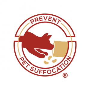 "alt= ""Prevent Pet Suffocation Logo showing dog getting into a chip bag"""