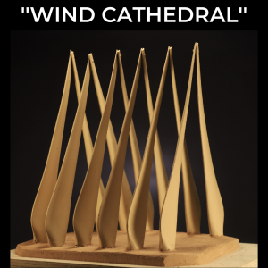 Wind Cathedral by Chris Navarro created from wind turbine blades