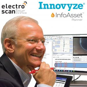 Paul Pasko, PE, reviews Electro Scan's Application Programming Interface (API) that integrates FELL data with Innovyze's InfoAsset Planner for Sewer and Water (Pictured).