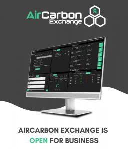 AirCarbon Exchange Trade Screen