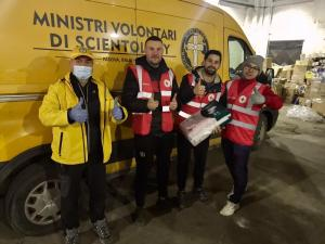 Volunteer Ministers from Padua work with members of the Red Cross in Sisak to ensure supplies are delivered immediately to those in need.