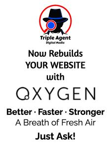 Triple Agent Digital Media now rebuilds your website with Oxygen Builder. Better, faster, stronger - A Breath of Fresh Air!