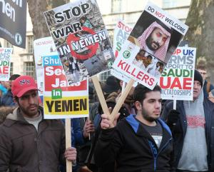 """""""Stop the War in Yemen !"""" by alisdare1 is licensed under CC BY-SA 2.0"""
