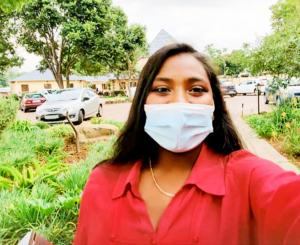 In Johannesburg, South Africa, Kya shoots a video of herself as she enters her church, eager to continue her own studies of Dianetics.