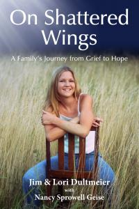 Book cover of 19-year-old Jennifer Dultmeier shortly before she was killed in a drinking/driving accident. The driver was Jennifer's best friend since their childhood.  Photo taken in Topeka, Kansas