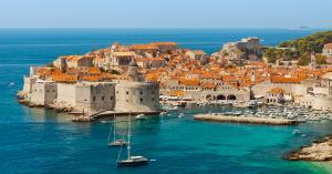 Panoramic view of Dubrovnik Croatia
