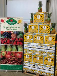 Photo of Colorada Fresh pineapples on display at fruit market in Italy