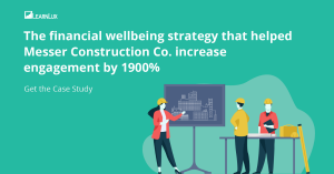Financial wellbeing Case Study with Messer Construction Co and LearnLux graphic