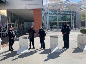 Officers with Archer barriers