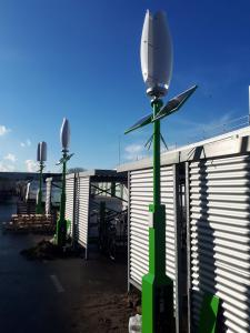 Wind and Solar E-bike Charging Poles