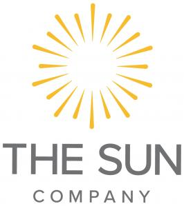 The Sun Company Logo - a yellow star burst with The Sun Company clean grey text