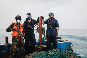 Captain Peter Hammarstedt with Sierra Leone Navy
