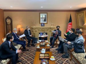 The WTIA meeting in the embassy of the Islamic Republic of Afghanistan