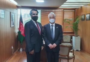 HE Abdul Hakim Atarud, Ambassador of Afghanistan to Korea and Chairman Kim, WTIA Group