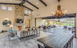 Diamante Golf Villa Living Room Looking Out to Tiger Woods Short Course