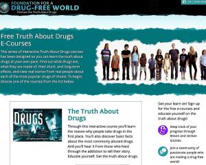 Truth About Drugs eCourses available free of charge on Foundation for a Drug-Free World website