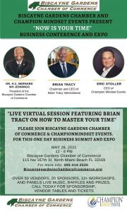 A flyer describing the event on May 26th at the Biscayne Gardens Chamber of Commerce