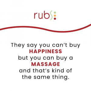 Square with Rubs logo and the saying: