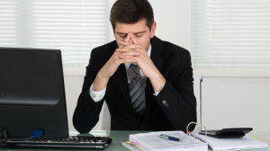Stressed accountant
