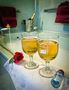 Each suite features a private bath