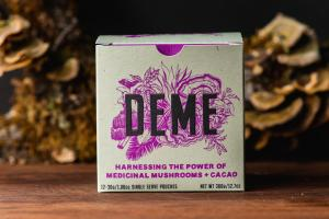 DEME Brings Sustainable, Transparent, Delicious Offering To Medicinal Mushroom Functional Beverage Industry