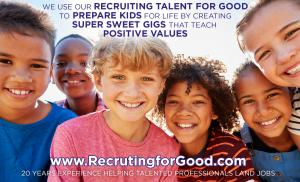 Staffing agency, Recruiting for Good generates proceeds to fund gigs for talented kids #hiretalent #makepositiveimpact www.RecruitingforGood.com