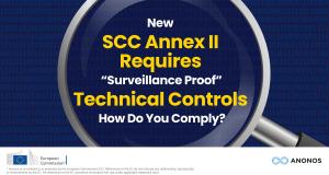 Schrems II SCC Annex II Anonos Data Embassy Technology
