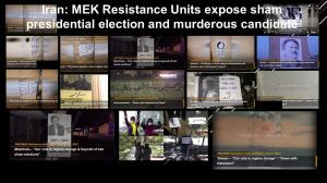 June 11, 2021 - Iran - MEK Resistance Units expose sham presidential election and murderous candidate.