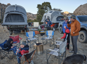 Families enjoying outdoor adventures with their XGRiD Campers