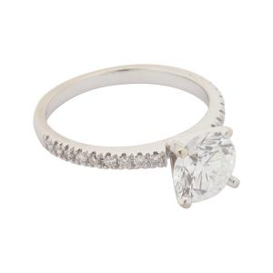 Dazzling diamond solitaire ring with 1.99-carat center stone, 14kt white gold band, a fabulous investment-grade natural diamond (CA$15,340).