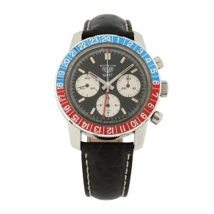 Tag Heuer Autavia GMT 2446C watch from 1972 featuring an amazing Pepsi bezel (the color of which still pops) (CA$17,700).