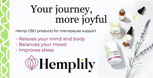 Hemplily natural products for symptoms of menopause