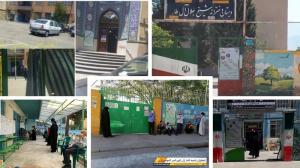 June 18, 2021 - Low turnout in Iran sham election in different cities.