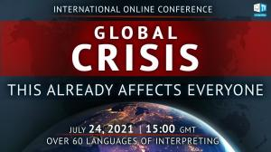 """International online conference """"Global Crisis. This Already Affects Everyone"""" is the event of utmost importance organized by volunteers from around the world on the platform of ALLATRA International Public Movement."""