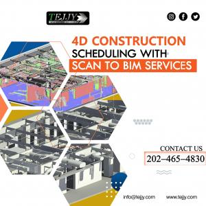 4d Construction Simulation with Scan to BIM modeling
