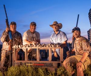 Hunter Group with Sunset