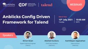 Anblicks Config Driven Framework (CDF) for Talend