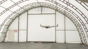 Indoor UAV test flight