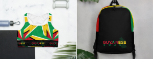 Guyanese Swag Sports Bra and Backpack Collection