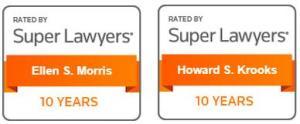 ELA Super Lawyers 2021 10 Years Badges