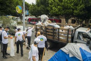 Volunteers disposed of 390 cubic feet of trash.