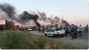 July 18, 2021 - The people of Susangard protested by closing the main road to Ahvaz.