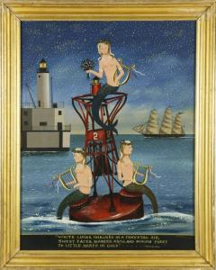 Three oil paintings by the Massachusetts artist Ralph Eugene Cahoon, Jr. (1910-1982) will be sold, including The Sea Fairies. Estimate: $20,000-$30,000.