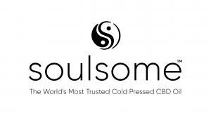 Soulful cold-pressed full spectrum CBD oil logo made from raw hemp flower
