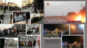 July 24, 2021 - Protests by rebellious youth in Yazd, Robat Karim, Saveh, and Qazvin-highway in support of Khuzestan uprising.