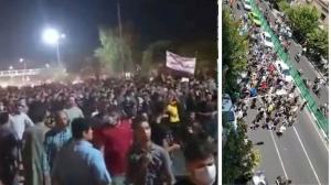"""July 26, 2021 - Protests erupted in Tehran on Monday, days after protests in Khuzestan began. People in Tehran chanted slogans against the regime officials and condemned the regime's warmongering policies. They were heard chanting """"neither Gaza nor Lebano"""