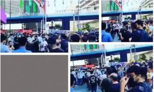 """July 26, 2021 - The crowd also chanted """"Tanks, guns (are not going to save your regime), the mullahs must go""""."""
