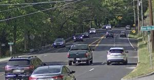 Image of cars approaching a NovoaGlobal provides speed enforcement to Chattanooga Hixson Pike S Curve